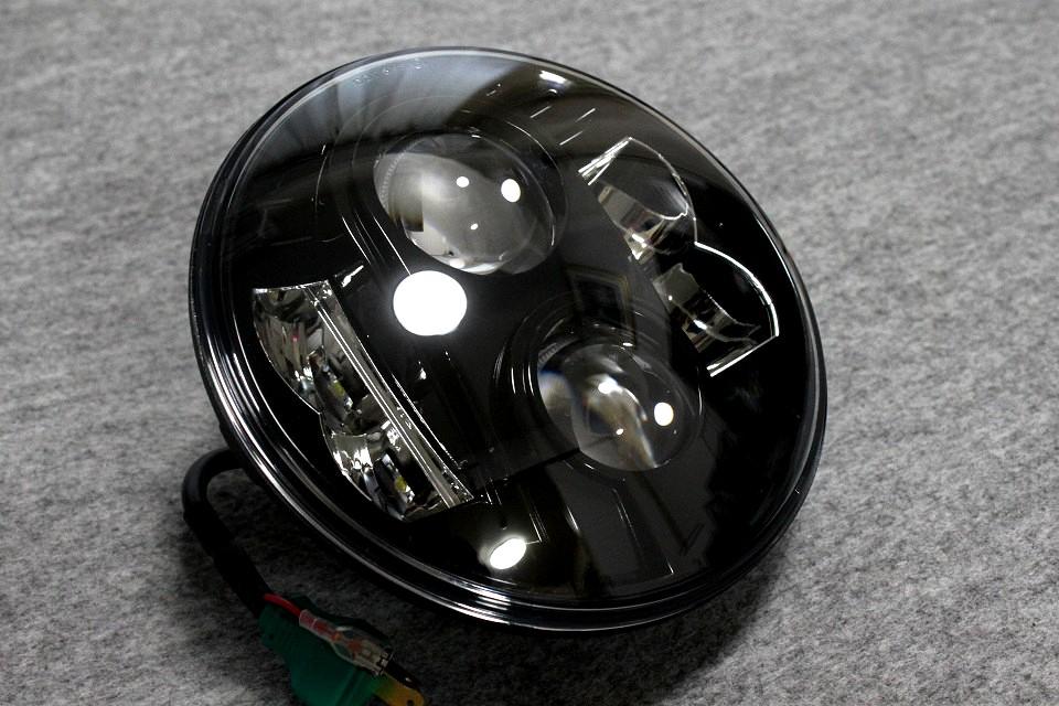 *2年保障! ラインナップ中最強照度の爆光LEDヘッドライト ボディ付きセット! XJR400,XJR1200,XJR1300,SR400への装着に!_画像5