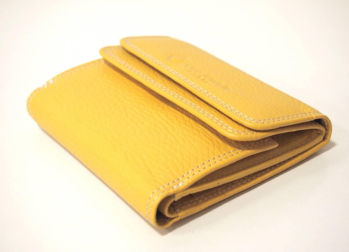 e1e3234c7d71 代購代標第一品牌- 樂淘letao - 牛革レザー二つ折り財布見やすいボックス型小銭入れ新品イエロー/レディースメンズ本革レザー金運黄色プレゼントbox  財布