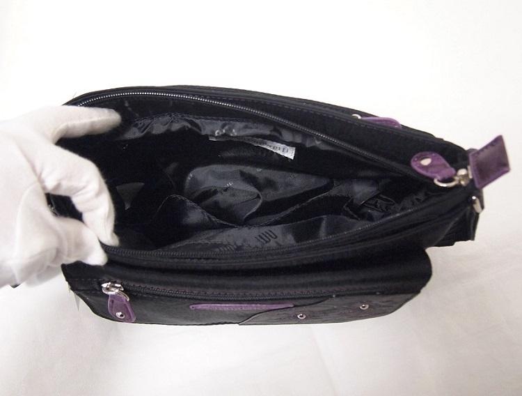 ショルダーバッグ nicolettamoretti ニコレッタモレッティ 軽量 斜め掛け レディース 黒 /ブラック 日常はっ水加工 シニア 軽い かばん 鞄_画像6