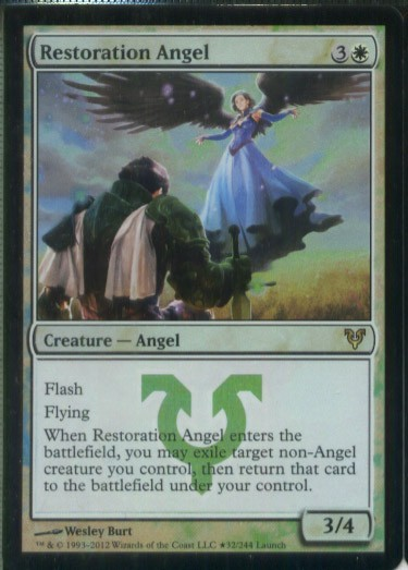 ★え白Foil 修復の天使 2枚セット(英 良品 プロモ)条件付送料無料 /Restoration Angel(十MTG/Promo)