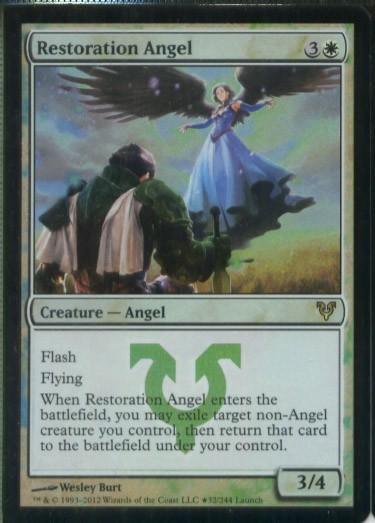 ★え白Foil 修復の天使 2枚セット(英 良品 プロモ)条件付送料無料 /Restoration Angel(十MTG/Promo)_画像2