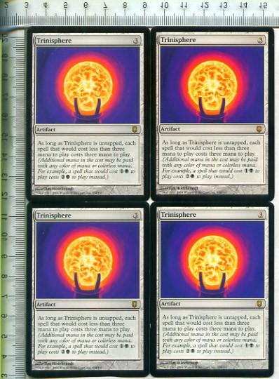 え銀 三なる宝球 1枚(1枚在庫x 英-DST)/Trinisphere(MTG /ダークスティール/Darksteel/)_画像3