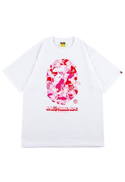 BE@RTEE BAPE CAMO Tシャツ M PINK APE be@rbrick MEDICOM TOY EXHIBITION 16 エキシビション ライブグッズの画像