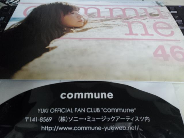 最新会報 YUKI ファンクラブ会報 46号 commune 限定 FC ユキンコ 会報 ジュディマリ
