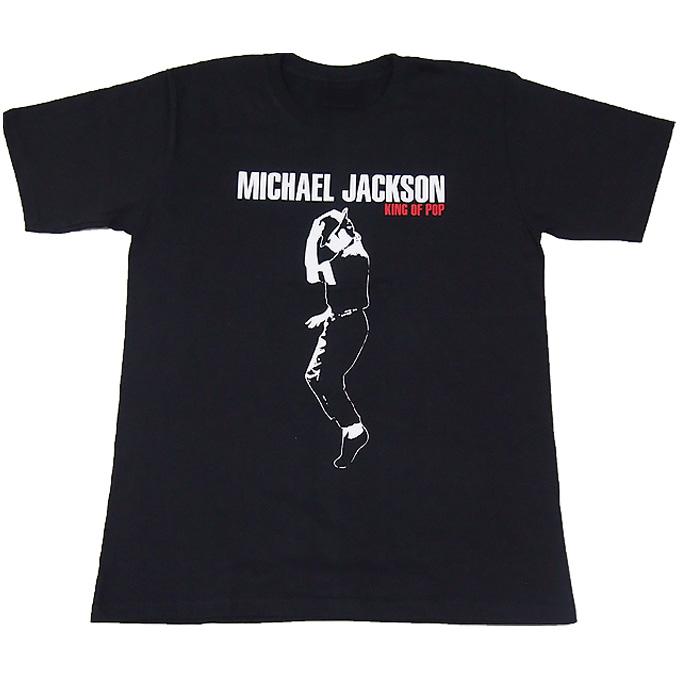 Michael Jackson■マイケルジャクソン■プリントロックTシャツ■バンドTシャツ■ブラックM ライブグッズの画像