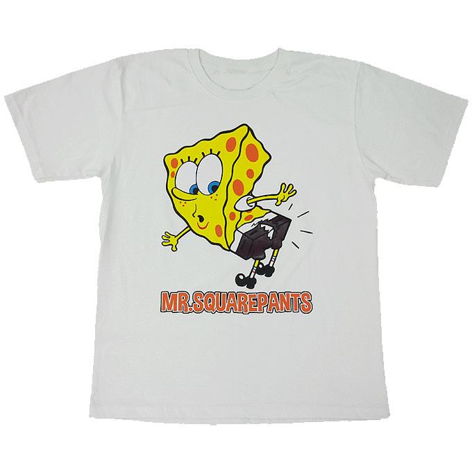 SpongeBob SquarePants/スポンジボブ・スクエアパンツ/アニメ/ホワイトL グッズの画像