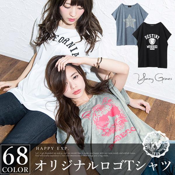 オリジナルロゴTシャツ tシャツ レディ... : レディース服【ブラック/4.NYCロゴ柄】 コンサートグッズの画像