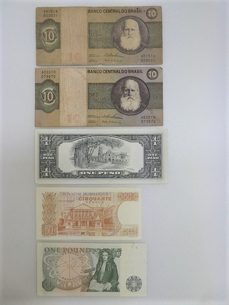◇稲宝◇ ブラジル フィリピン イギリス ベルギー 紙幣 5枚まとめ_画像2
