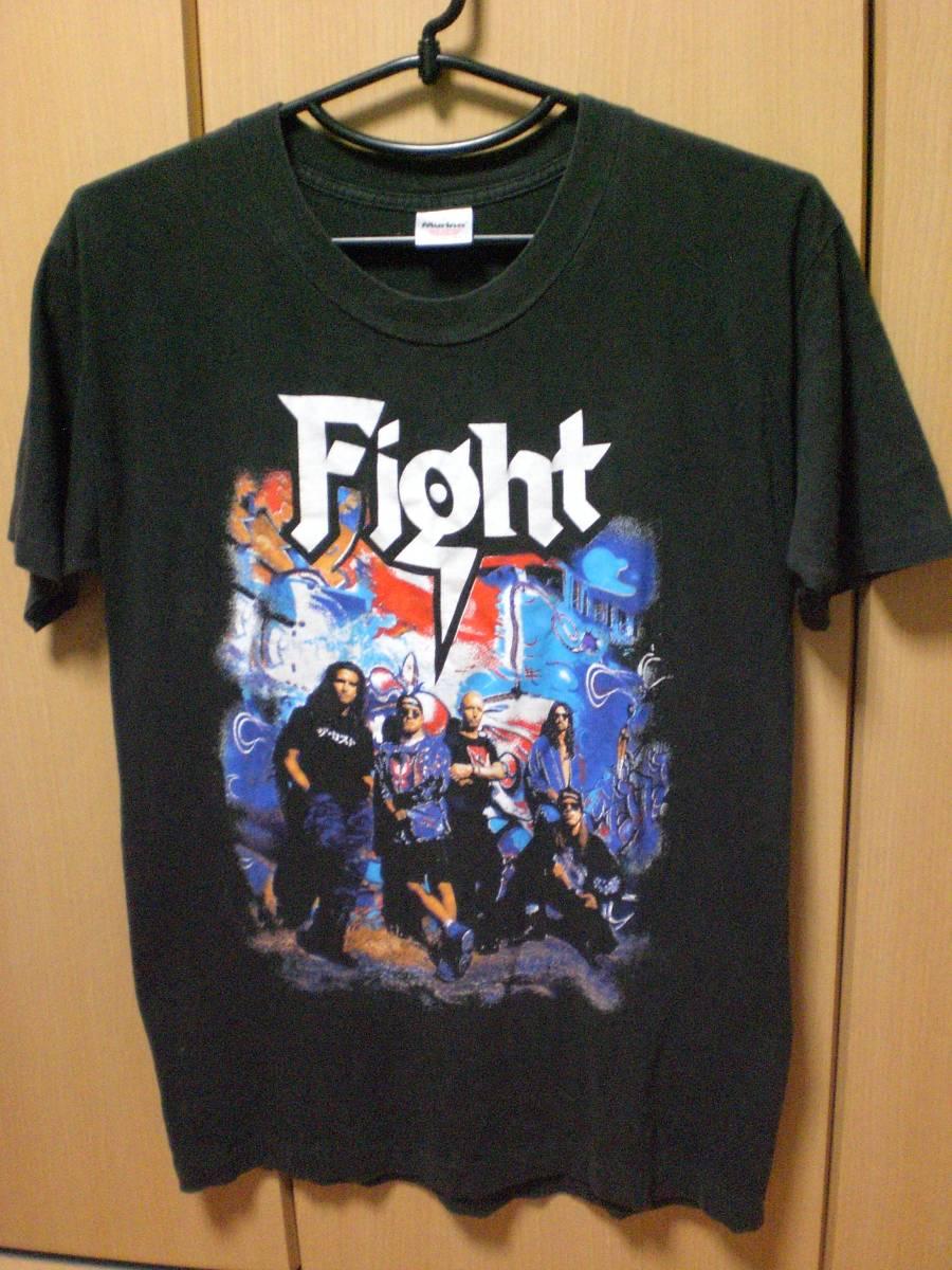 ビンテージ 90s FIGHT ファイト Tシャツ ジューダスプリースト Judas Priest メタリカ METALLICA GUNS N' ROSES ガンズ ヴィンテージ ライブグッズの画像
