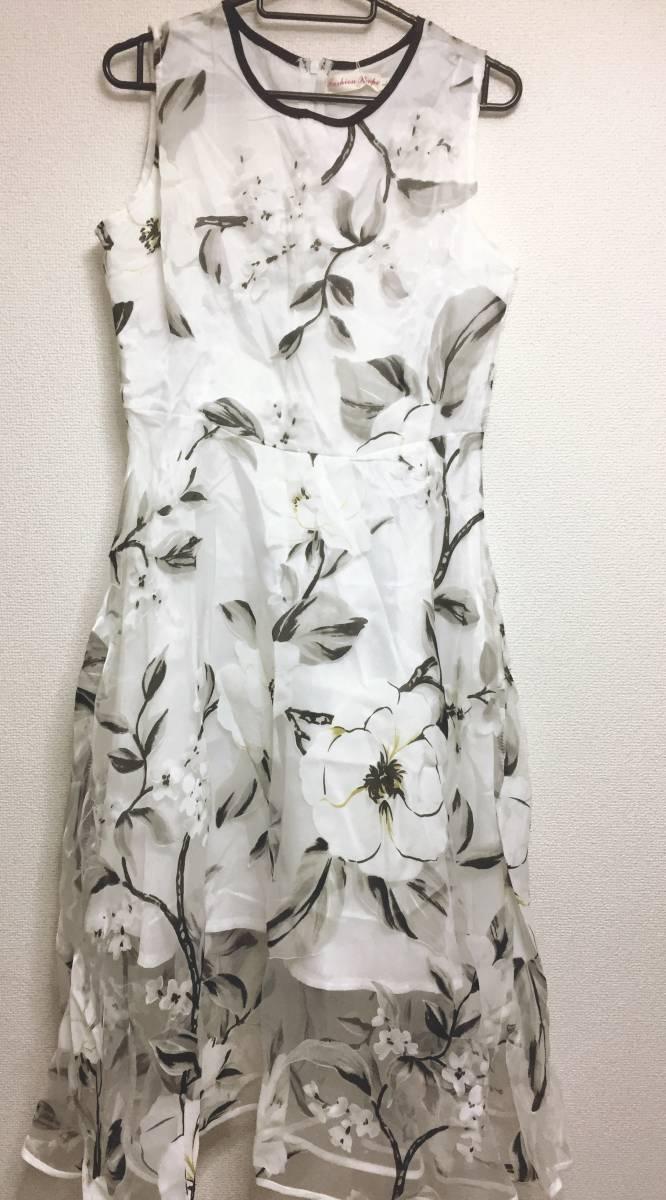 【新品未使用1円スタート】 ワンピース パーティドレス ドレス dresspraty 黒 白 black white dress 人気商品 フリーサイズ