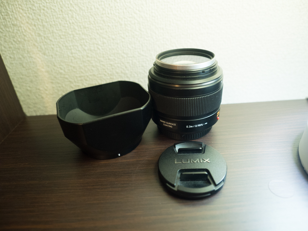 パナソニック Panasonic DG Summilux H-X025 25mm F1.4 Leica レンズ + フィルター