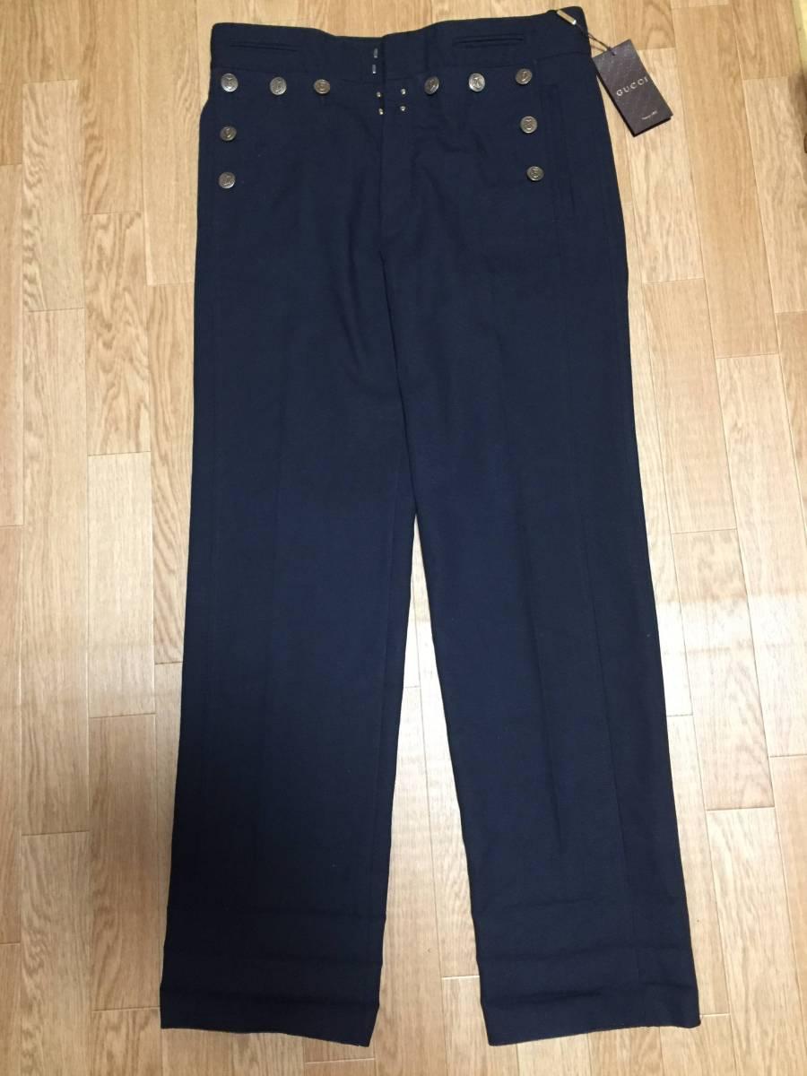 GUCCIのパンツ 黒サイズ50 正規品 新品未使用品 グッチ ズボン ボトム