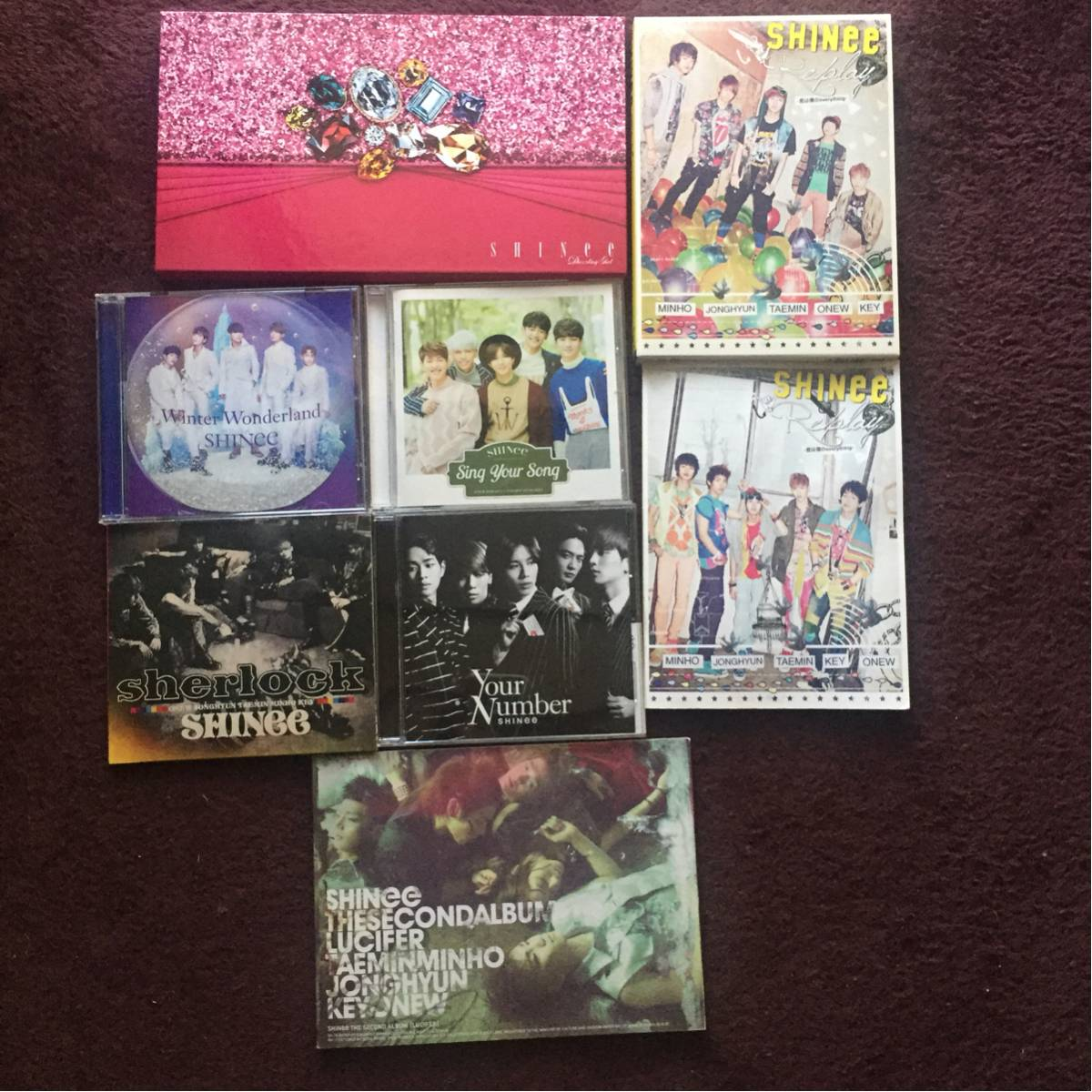 SHINee CD セット / Replay Lucifer Dazzling girl Your number Sherlock Sing your song Winter wonderland