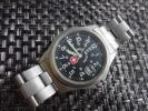 kqtsd989 - □■SWISS MILITARY スイスミリタリー メンズ ブラック デイト 日付表示付き 腕時計 5304 ジャンク