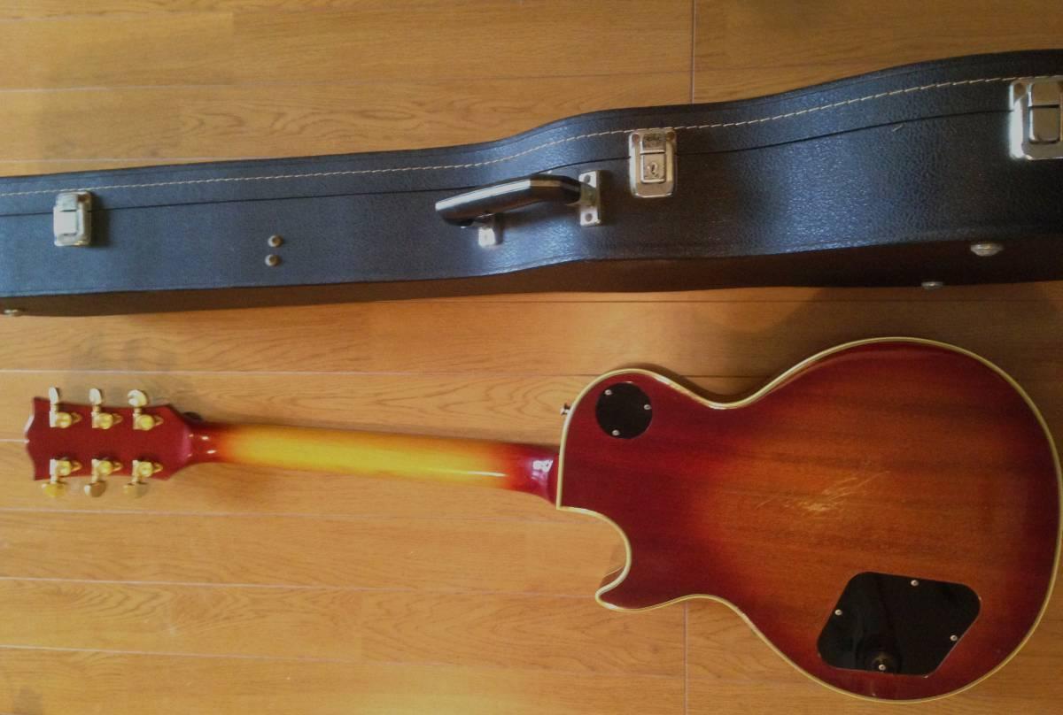 ハードケース(鍵付)付ワンオーナー貴重品!グレコ 国産ヴィンテージ・エレキ・ギター/GRECO EG-1000 レスポールモデル_画像2