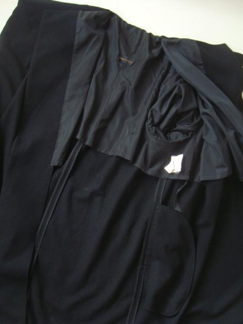 COMME des GARCONS ロングコート コムデギャルソン ブラック 着物コート 秋冬_画像4