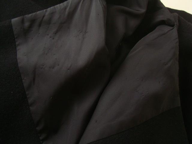 COMME des GARCONS ロングコート コムデギャルソン ブラック 着物コート 秋冬_画像10