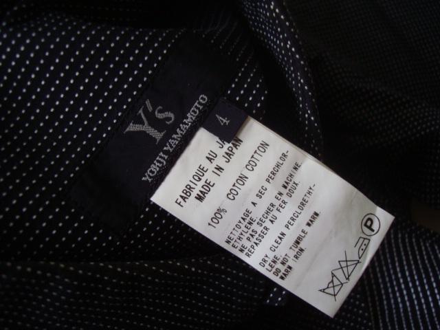 Y`s Yohji Yamamoto ドット柄長袖シャツ size4 ワイズ ヨウジヤマモト_画像5