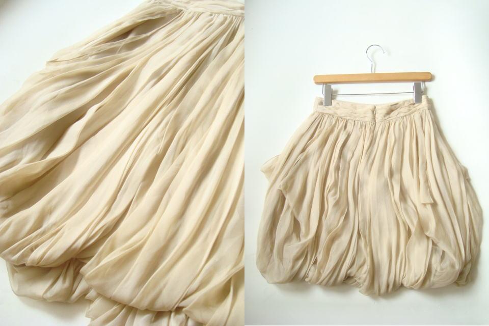 RALPH LAUREN USA製ドレープシルクスカート size4 ラルフローレン_画像2