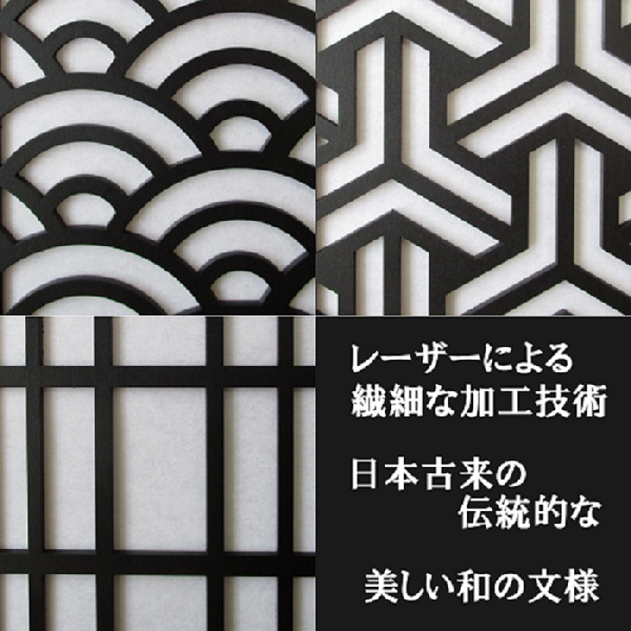 和風ランプシェード「青海波」(炎が揺らめくLEDキャンドルライト&専用リモコン付)_画像4