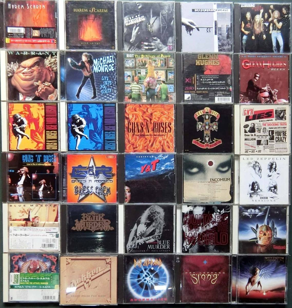 UFO,GUNS'N'ROSES,EXTREME,AEROSMITH,DEEP PURPLEなどハードロック,ヘヴィメタルのCD60枚