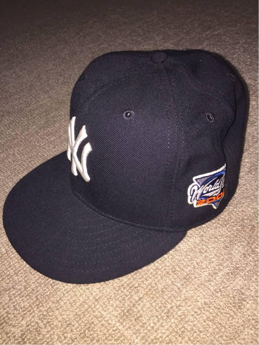 【美品 未使用】ヤンキース MLBキャップ 2000年ワールドシリーズ限定品 グッズの画像