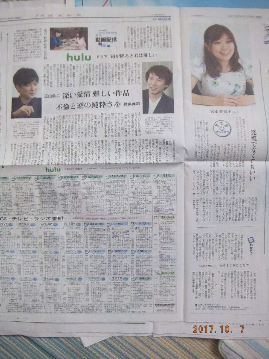 玉山鉄二・宮本佳那子.新聞記事 0908