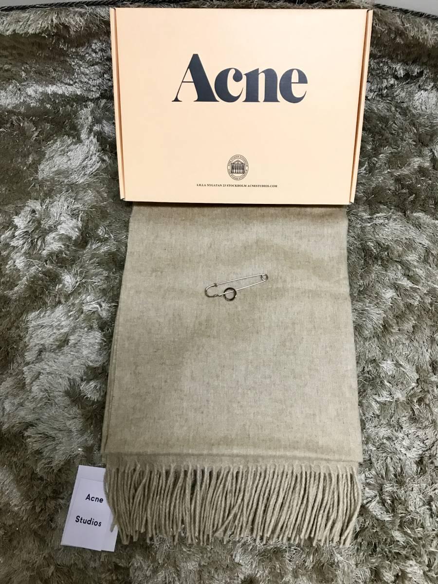 新品 ACNE ベージュ レディース カシミア100% マフラー