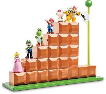 激レア 新品 アミーボ ディスプレイ スタンド スーパーマリオ ゴール!6体 ディスプレイ可能 amiibo マリオ 階段 海外限定 グッズの画像