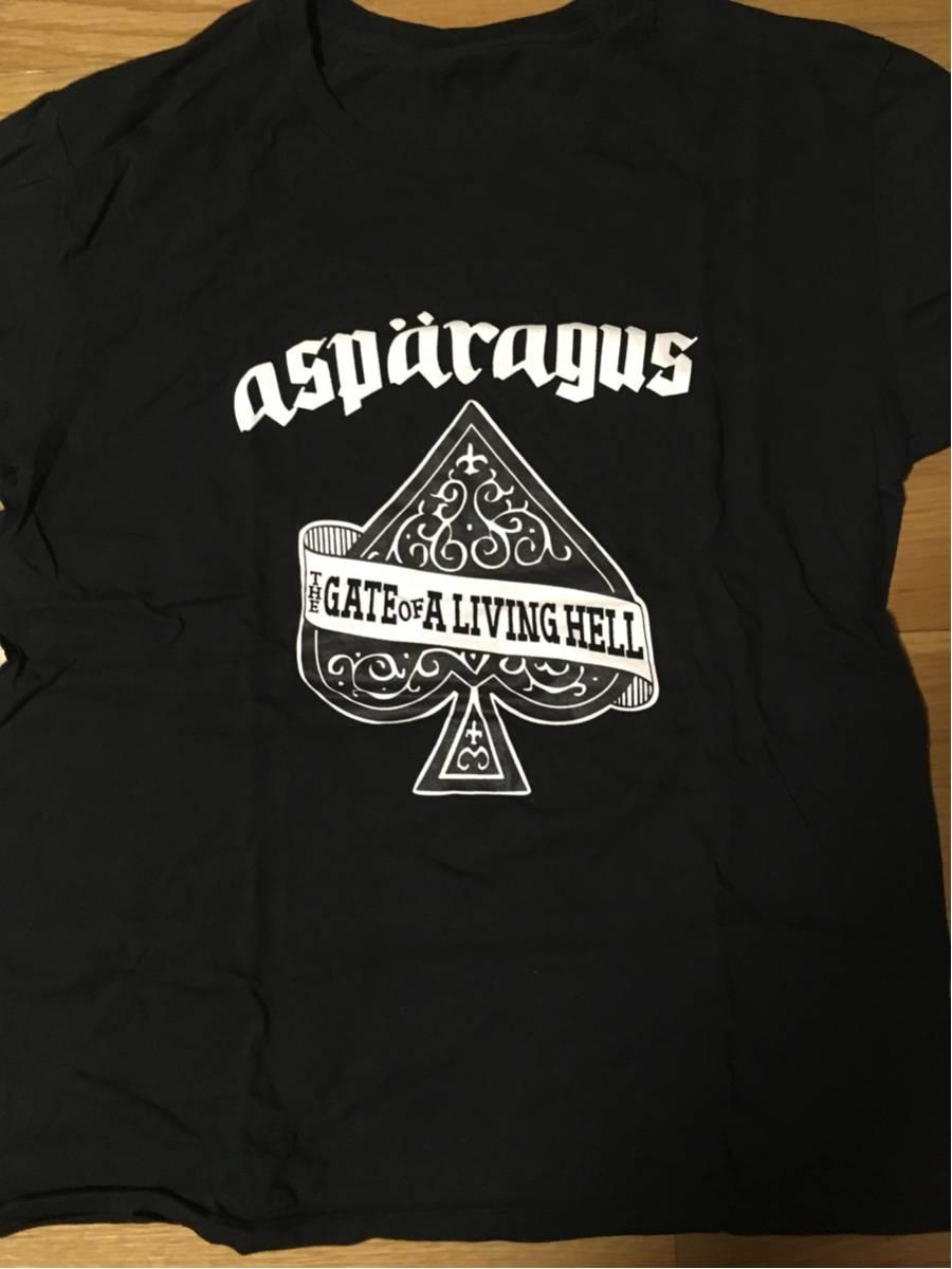 【送料込・新品】ASPARAGUS Tシャツ 黒・M