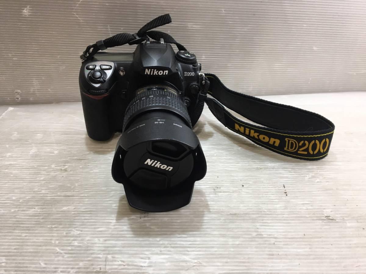 (263)NIKON ニコン デジカメ D200 望遠レンズ付き