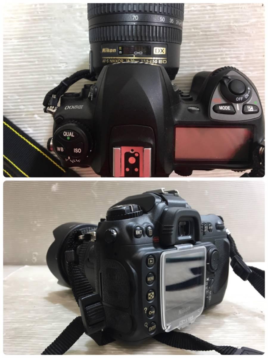 (263)NIKON ニコン デジカメ D200 望遠レンズ付き_画像2