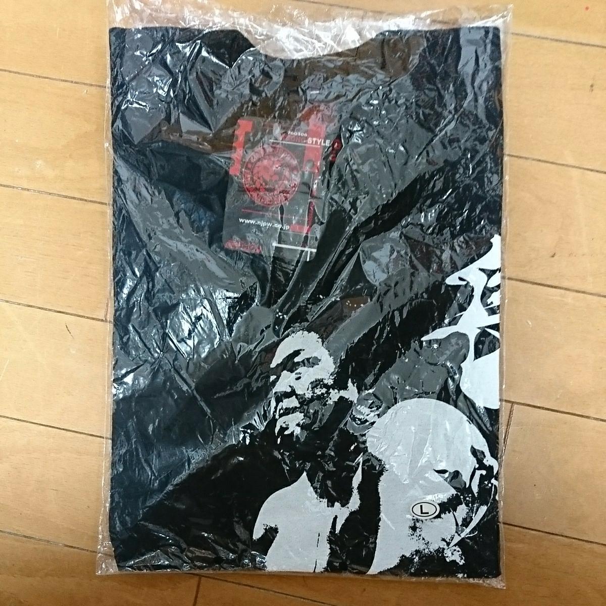 新品 未使用 新日本プロレス 長州力 白黒フォト Tシャツ闘魂ショップ サイズL グッズの画像