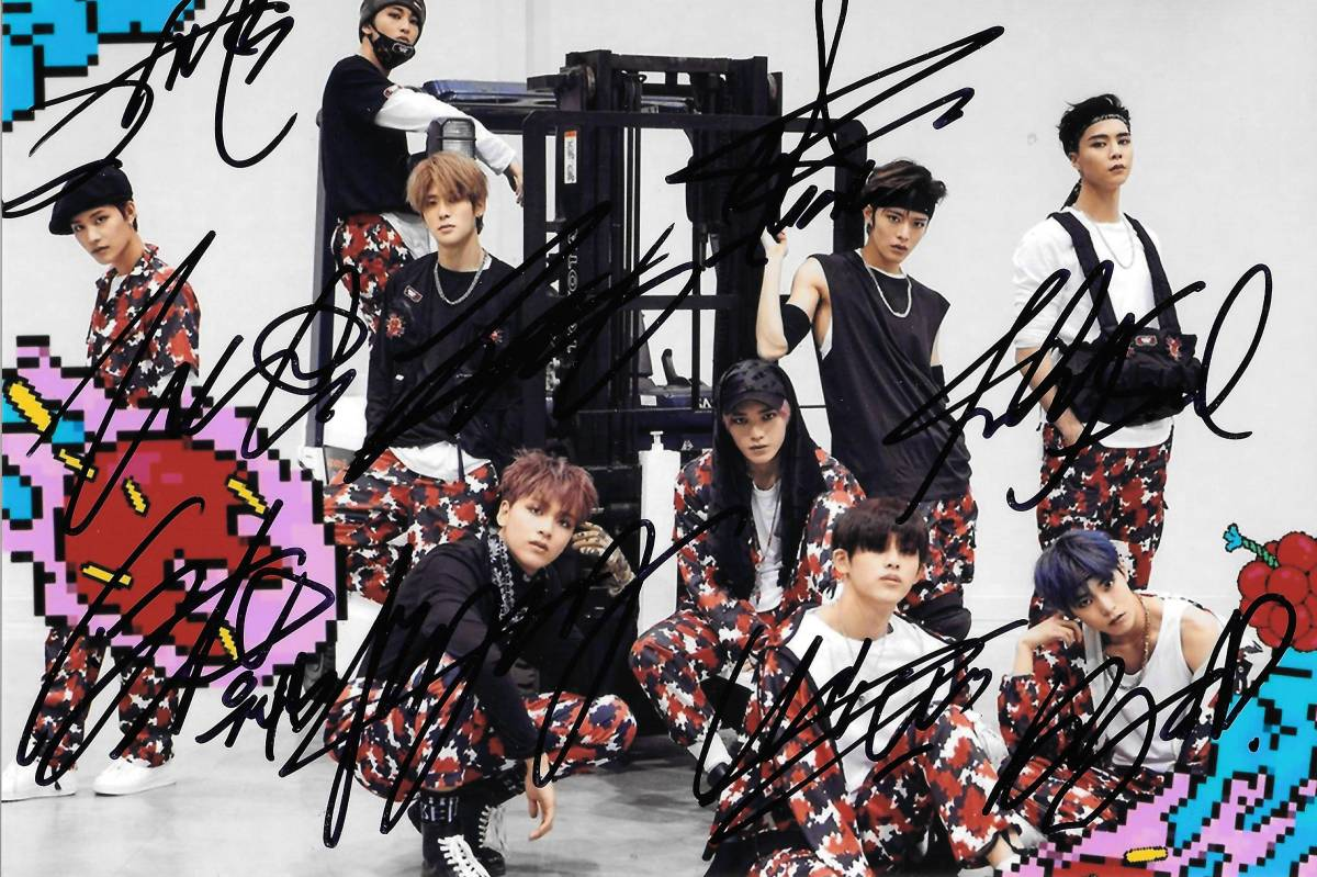17.7★NCT 127★「Cherry Bomb」 全員直筆サイン入り生写真 799