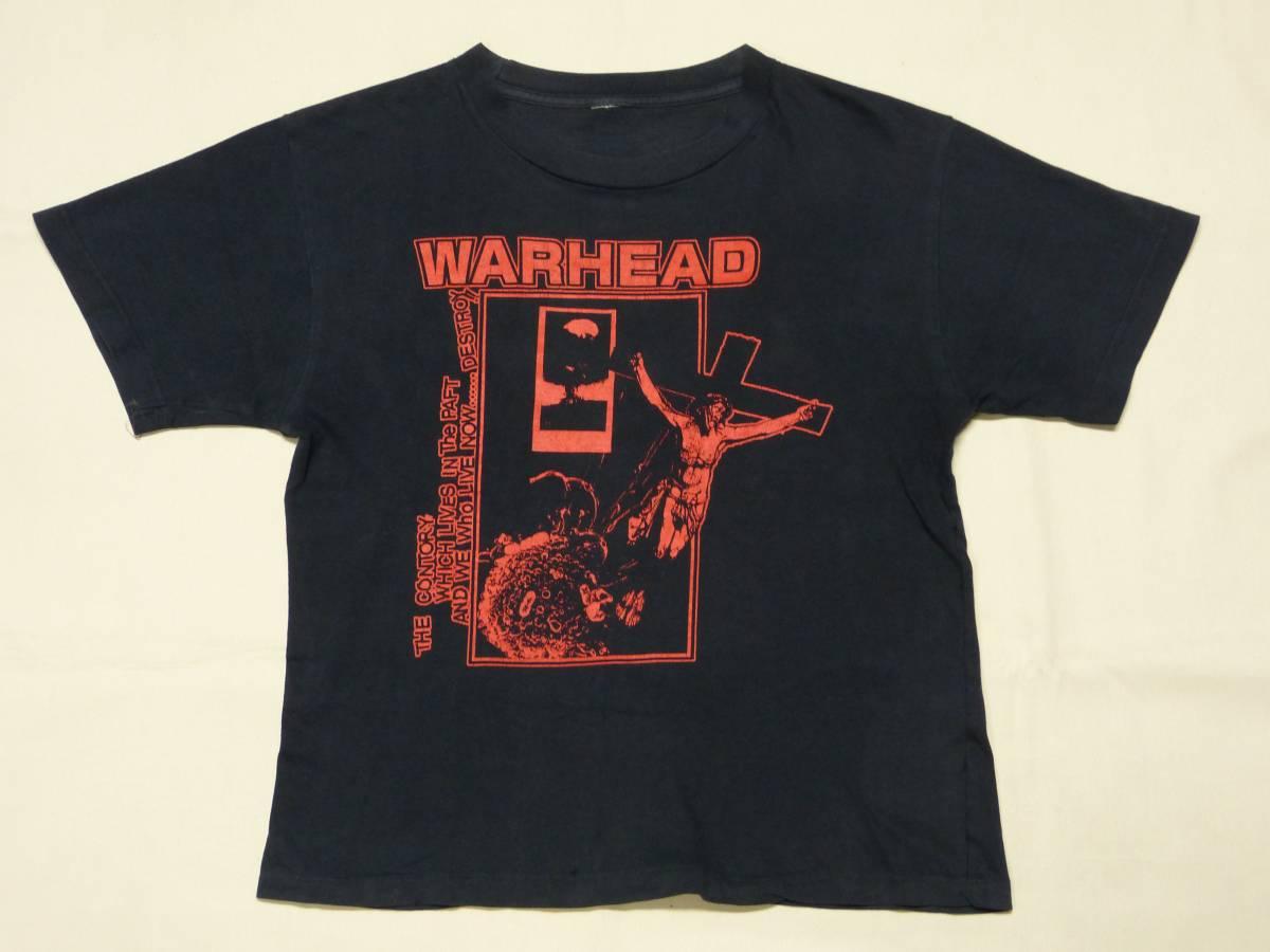 WARHEAD Tシャツ 貴重 GAUZE LIP CREAM DEATH SIDE BASTARD JUDGEMENT 鉄アレイ 惡意 DISCHARGE CRASS CHAOS UK fuudobrain HC パンク GISM