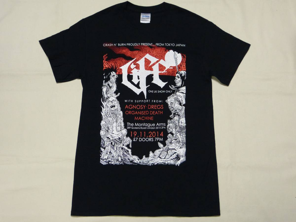 LIFE Tシャツ 貴重 DISCLOSE SDS GLOOM CFDL CHAOS CHANNEL THE SWANKYS CONFUSE GAI SEDITION LOS CRUDOS AMEBIX CRUST 666 パンク GISM