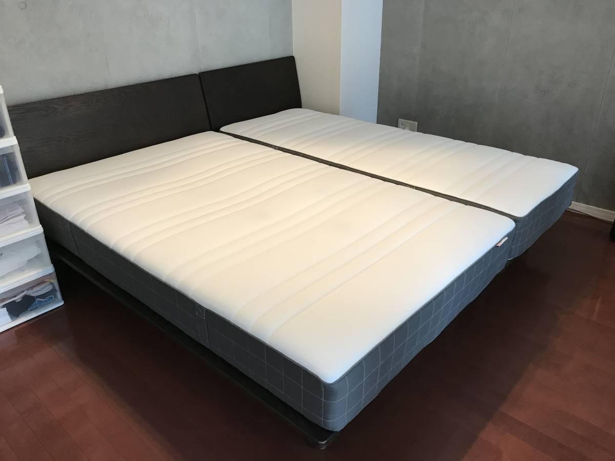 MUJI 無印良品 オーク材 収納ベッド フレームのみ セミダブルサイズ ナチュラルカラー ○