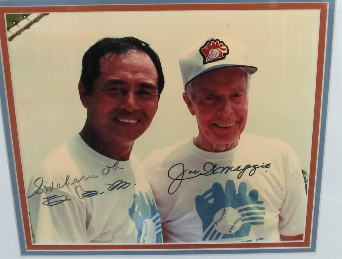 昭和野球選手 巨人王貞治 W サイン & ヤンキース ジョー・ディマジオ 直筆サイン 写真 19