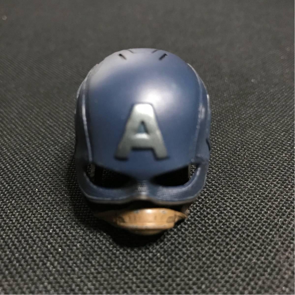 1/6 ホットトイズ キャプテンアメリカ ヘルメット 装着不可 映画グッズの画像