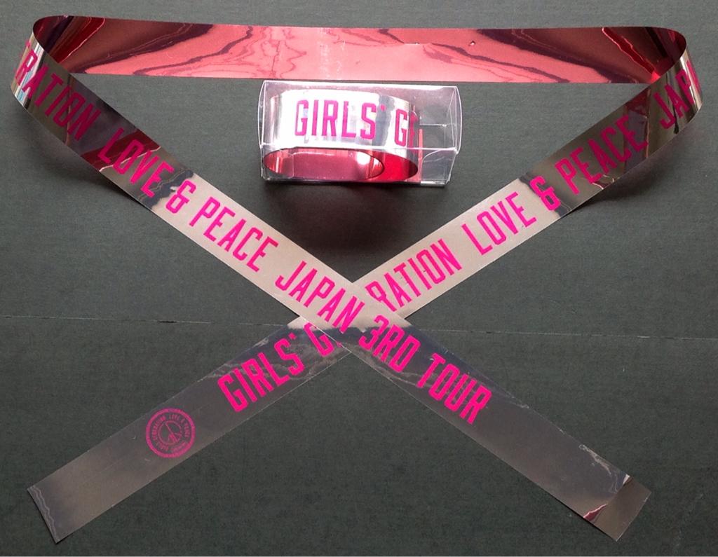 即決!《少女時代》GIRLS' GENERATION LOVE&PEACE JAPAN 3RD TOUR 2014【 銀テープ 】1本
