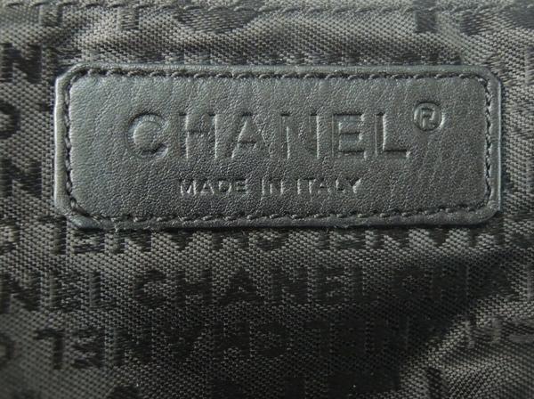 シャネル CHANEL プリーツ レザー チェーン ショルダー バッグ ブラック Y2702179_画像9