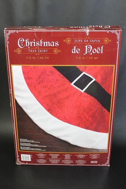 X'mas TREE SKIRT クリスマスツリー スカート サンタ柄 約168cm 未使用品_画像1
