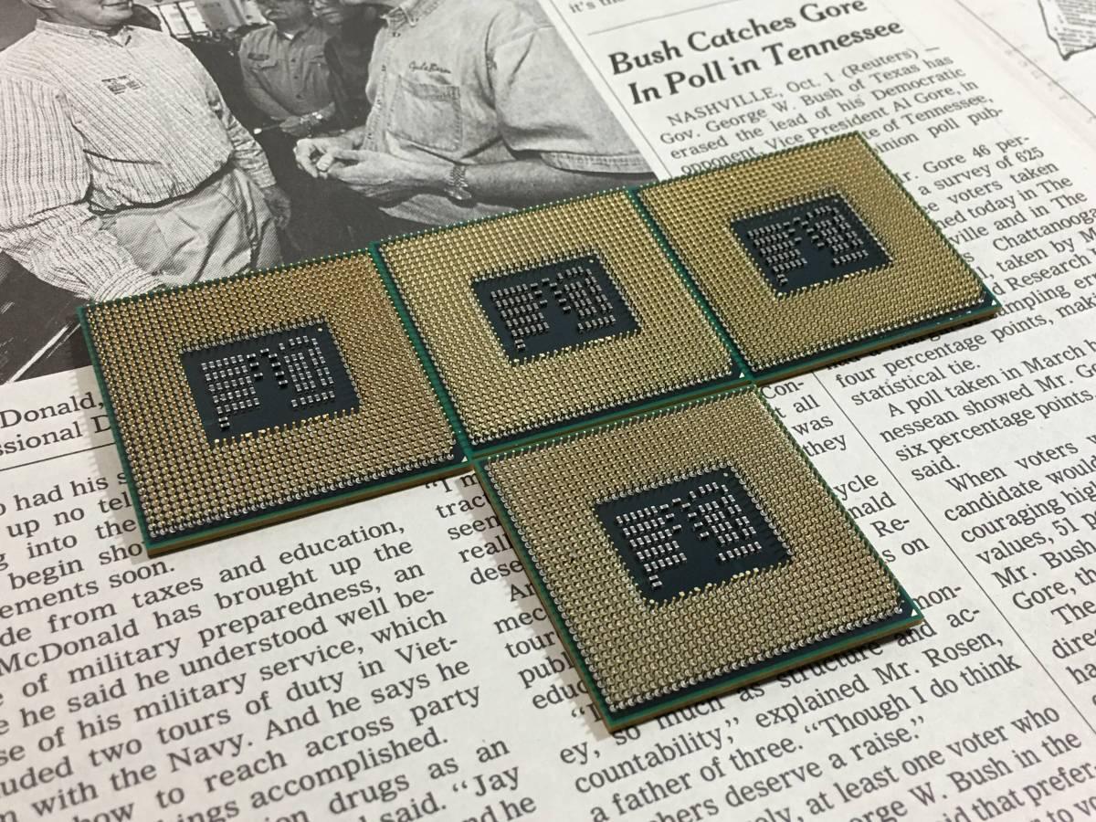 在庫処分☆INTEL Core i5 460M が3個 Core i5 430M が1個 計4個セット ノートパソコン CPU 【同日終了CPUのみ同梱可】_画像2