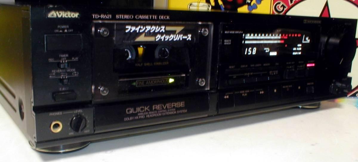 Victor TD-R621 Dolby-B.C/HX-PRO QUICK REVERSE CASSETTE TAPE DECK