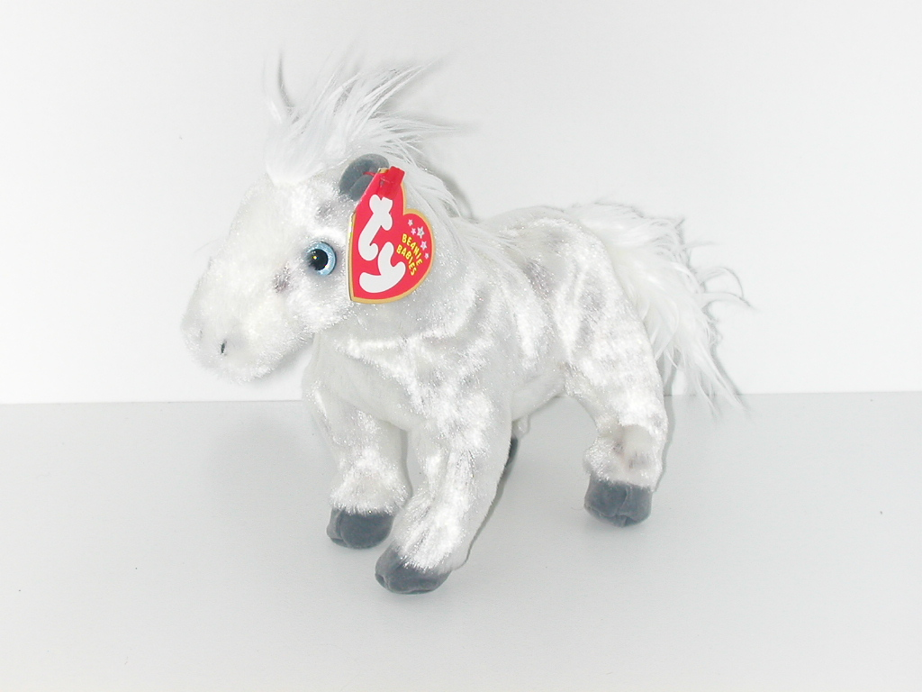 prompt decision  Ty BEANIE BABIES Lightning white horse   soft toy   Beanie  Bay Be Beanies BABIE  birthday  2002 year 3 month 27 day  GD026 6fe8624518b