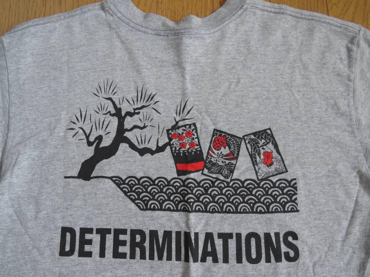 貴重★DETERMINATIONS デタミネーションズ Tシャツ 中古 USED 希少 Anvil サイズ M グレー 花札 オーセンティック スカ SKA スカタライツ