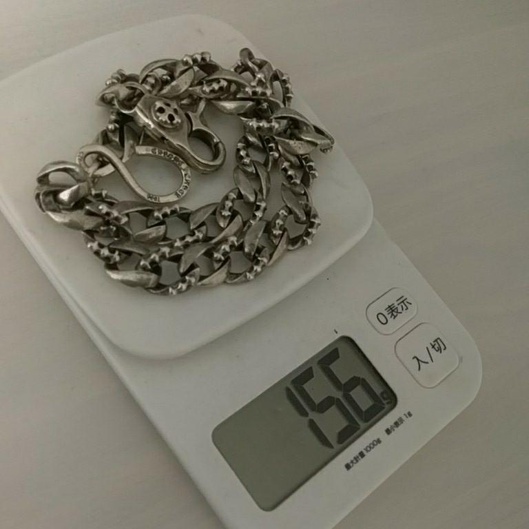 シルバー 925 クロムハーツタイプ ウォレットチェーン 刻印あり 156g!! 1円売り切り(^_^)v_画像3