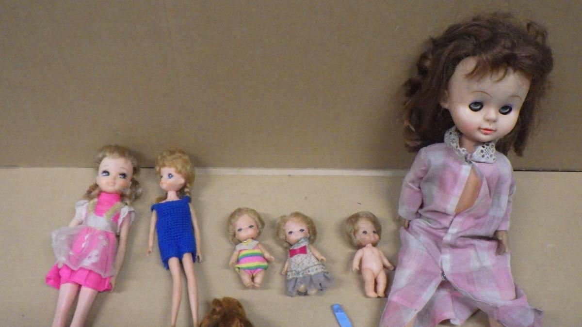 まとめ売り 70年代~80年代 ナカジマ おしゃべり人形 タカラ かぼちゃワインLちゃん人形 リカちゃん 大量 色々 13個セット 激レア 当時物_画像3