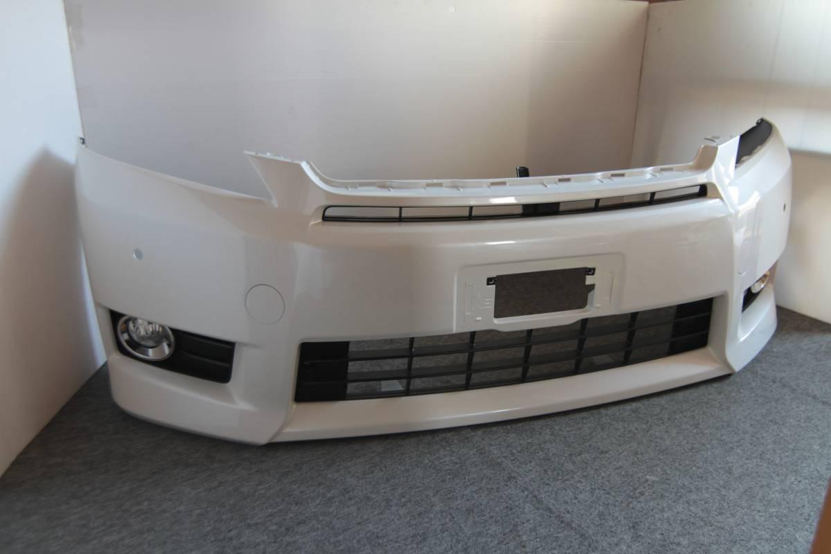 ◆極上◆新車外し◆トヨタ純正 ヴェルファイア 20 後期 X V フロントバンパー パールホワイト ANH20W ANH25W GGH20W GGH25W K97