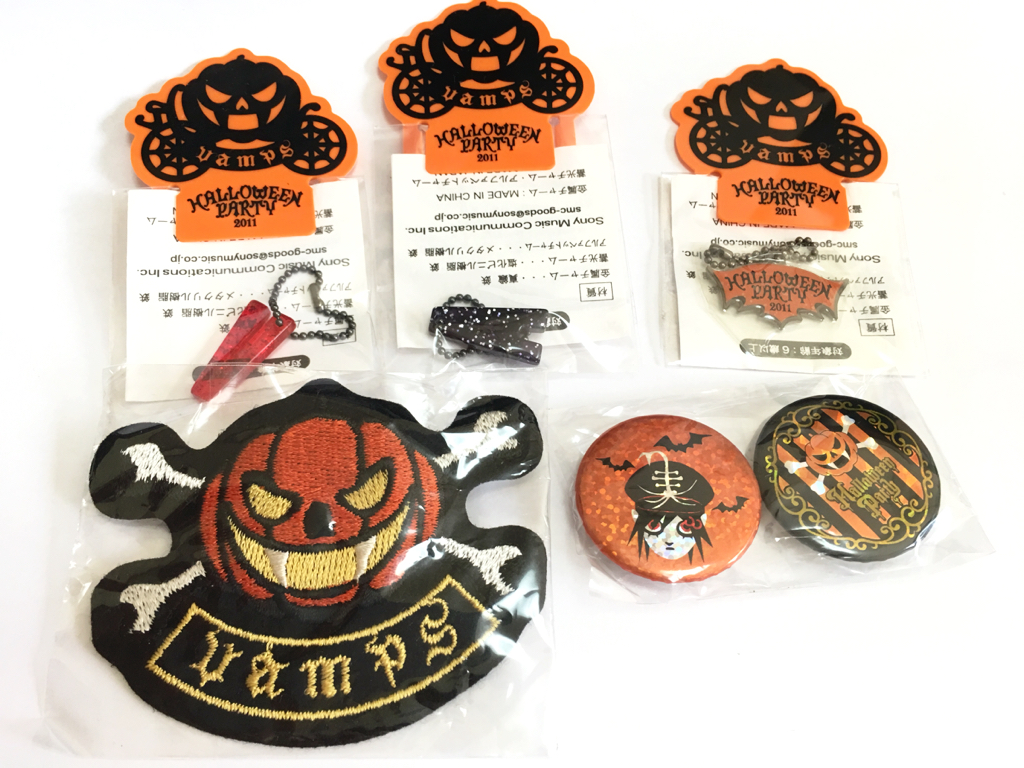 HALLOWEEN PARTY VAMPS会場限定ガチャ5個セット◆キーホルダー◆チャーム◆バッジ◆缶バッジ◆ラルク◆L'Arc~en~Ciel